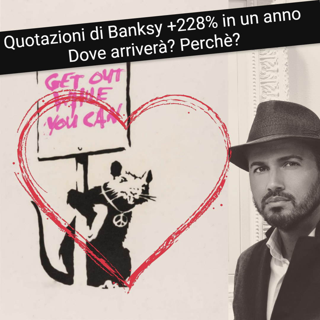 Banksy shock: quotazioni +228% in un anno. Dove arriverà?